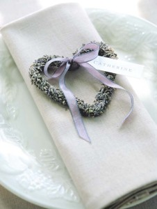 Lavender Heart Favors