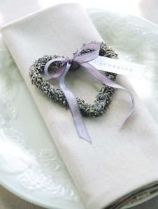 Lavender Heart Favors
